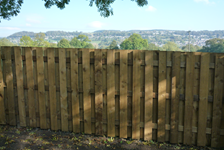 A stylish new fence will complete any landscaping project.